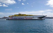 Euroferries catamaran sailing from Ramsgate to Boulogne
